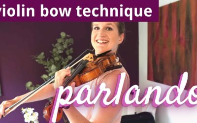 How to Play PARLANDO   Violin Bowing Technique   Violin Lounge TV #437