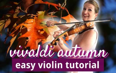 Vivaldi Four Seasons AUTUMN 1st mov easy violin tutorial for beginners   Violin Lounge TV #436