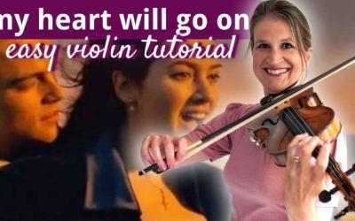 My Heart Will Go On – Titanic – Easy Beginner Violin Tutorial | Violin Lounge TV #440