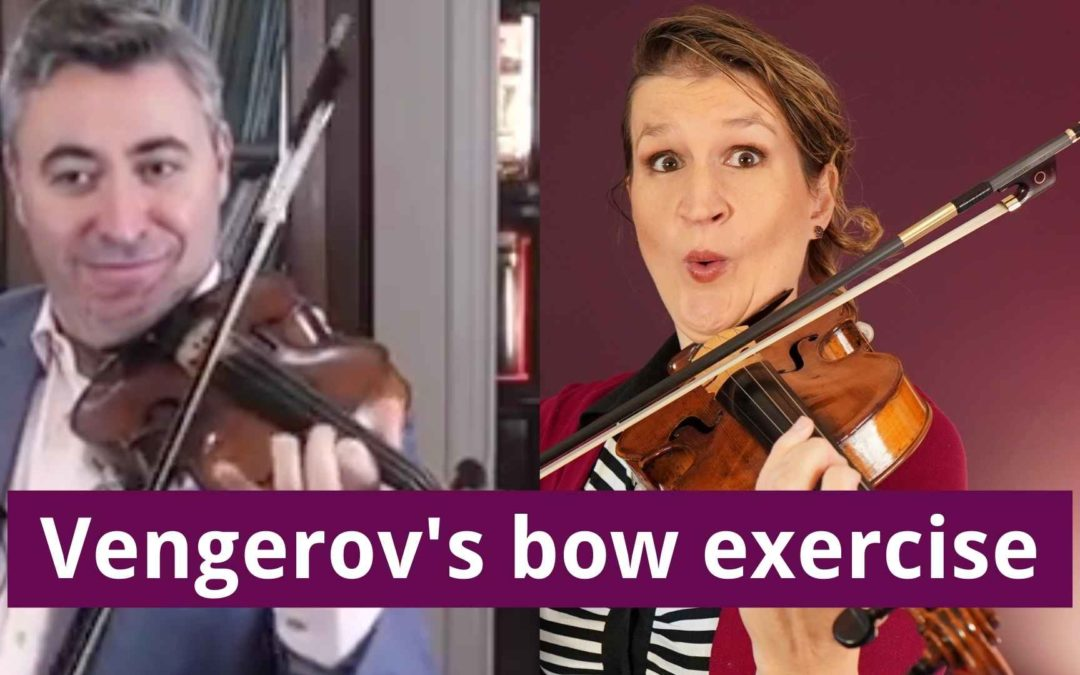 Trying out Maxim Vengerov's Violin Bow Exercise   Violin Lounge TV #441